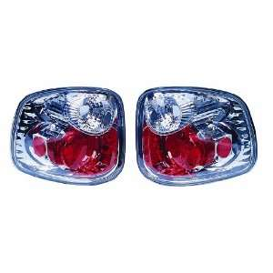 97 00 Ford F150 Super Crew Chrome Altezza Euro Tail Lights