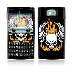 Flame Skull Decorative Skin Cover Decal Sticker for Samsung