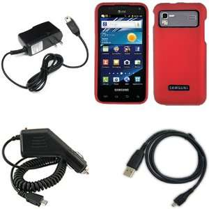iFase Brand Samsung Galaxy S2 i927 Combo Rubber Red