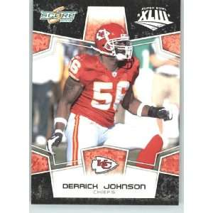 XLIII Black Border # 158 Derrick Johnson   Kansas City Chiefs   NFL