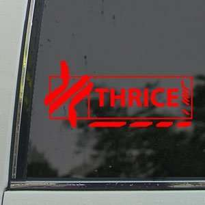 Thrice Red Decal Rock Band Car Truck Bumper Window Red