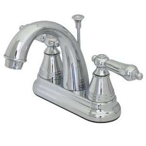 Faucet With Pop Up & Brass Foot Finish Polished Chrome Handle Plastic
