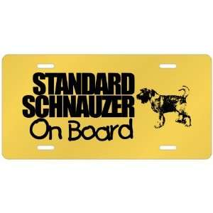 New  Standard Schnauzer On Board  License Plate Dog