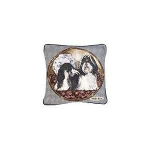 Shih Tzu Dog Animal Decorative Throw Pillow 17 x 17