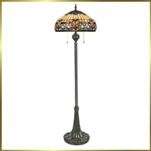 Tiffany Floor Lamp, QZTFBF9362VB, 3 lights, Antique Bronze, 20 wide X
