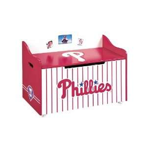 Phillies Wood Wooden Toy Box Chest