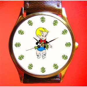 Vintage Art Dollar Watch 29 Mm Comic Art Collectible