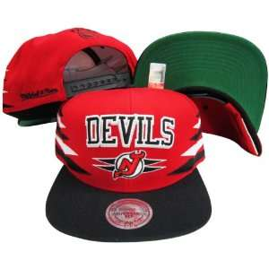 New Jersey Devils Diamond Red/Black Two Tone Snapback Adjustable