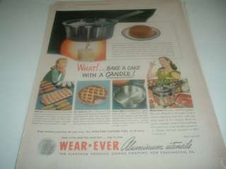 1947 Wear Ever Aluminum Cooking Cake Baking Pan ad