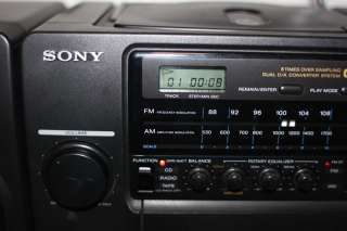 Sony Boombox CFD 510 CD Cassette AM FM Radio Mega Bass With Detachable