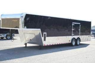 ENCLOSED CARGO AUTO CAR HAULER RACE TRAILER BLACK DEXTER 102X32