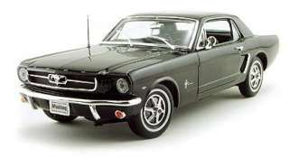 WELLY 12519HW BLACK 118 1964 1/2 FORD MUSTANG COUPE DIECAST MODEL CAR