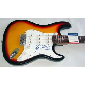 Rolling Stones Ron Wood Signed Sunburst Guitar & Proof PSA