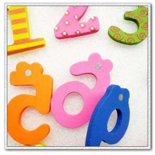 BB Baby Toys Fridge Wooden Magnets Holder Set 0 9 Digit