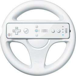 2x Original Nintendo White Mario Kart Racing Steering Wheel for Wii