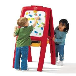 Step2 Easel For Two with Bonus Magnetic Letters/Numbers Toys & Games