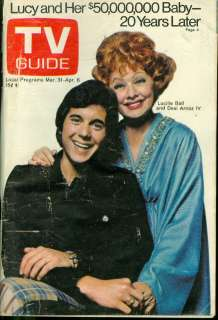 1973 TV Guide Lucille Ball & Desi Arnaz IV Cover