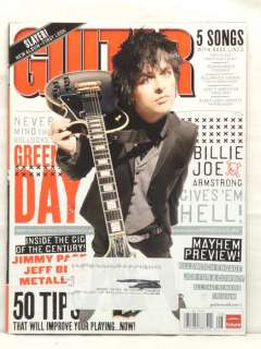 GUITAR WORLD MAGAZINE BILLIE JOE ARMSTRONG GREEN DAY